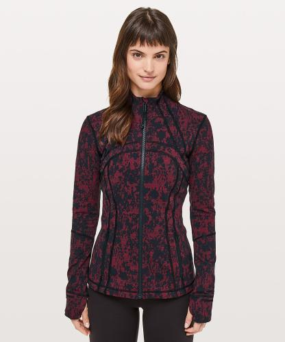 Define Jacket in Scatter Blossom Jacquard Garnet Black