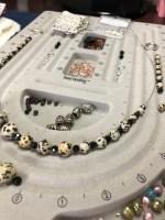 making jewelry, bead board