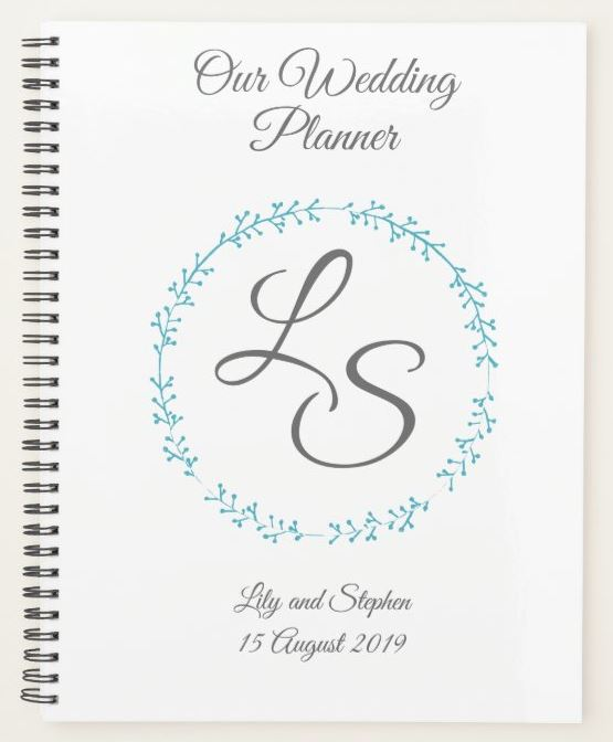 Monogram Wedding Planner Customizable