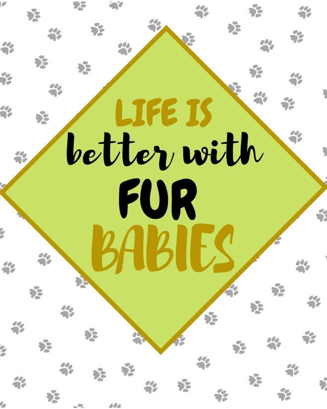 Fur Babies printable quote