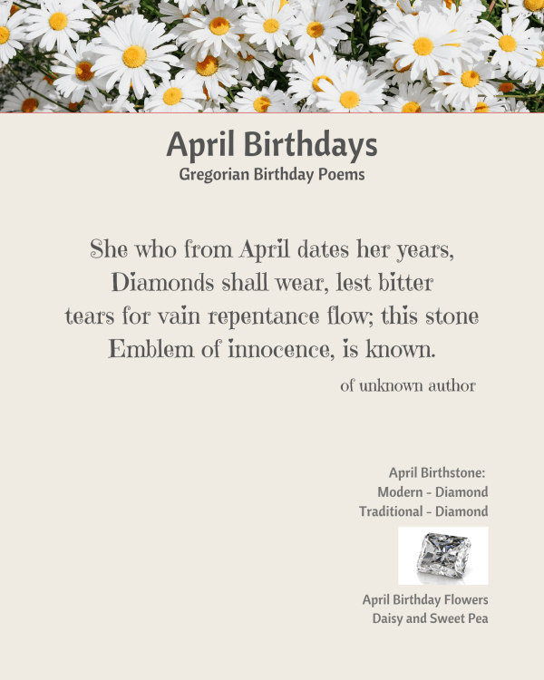 April Birthday Poem