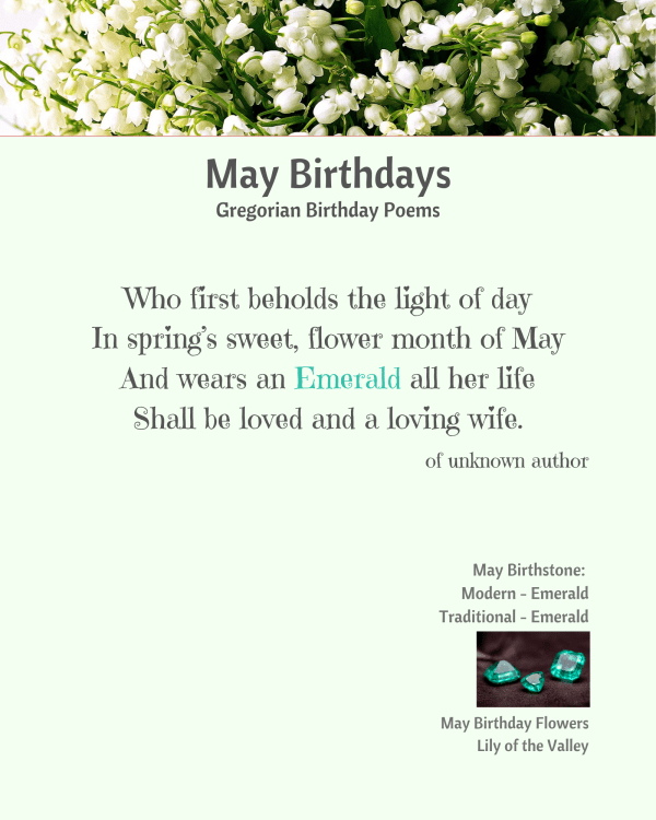 May Birthday Poem
