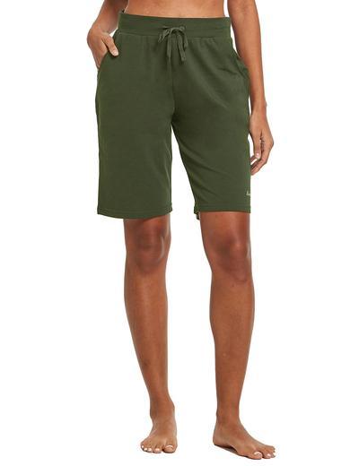 man wearing green shorts
