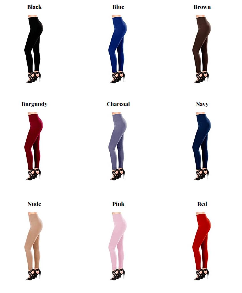 Satina Super Soft Leggings Chart
