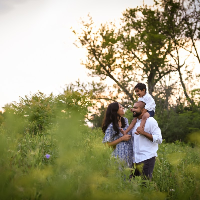 P Family Sunset Session-Dupage County, IL photography
