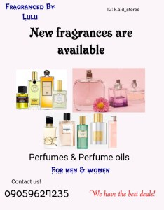 Wholesale and retail perfumes and perfume oil in Lagos