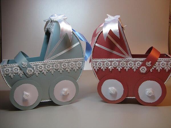 Свадебные сундучки в форме детских колясок