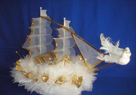Кораблик для молодоженов