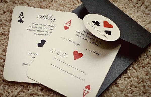 Игральные карты-пригласительные