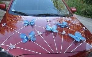 Как сделать украшение свадебных машин фото 996