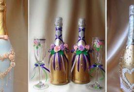 Свадебные бутылки своими руками: создаем эксклюзивную красоту