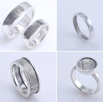 Отпечатки пальцев как альтернатива надписям на обручальных кольцах