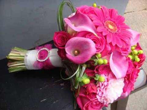 оттенки розового букета