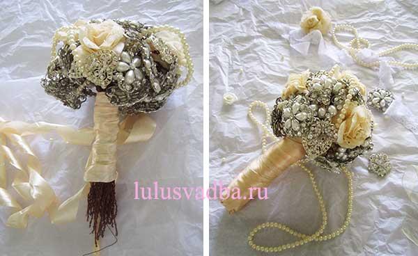 Свадебный букет сваоими руками из брошек