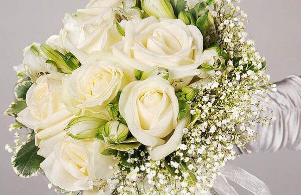 Красивый свадебный букет из роз своими руками