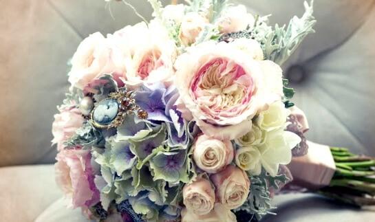 сваде6ный букет для винтажной невесты