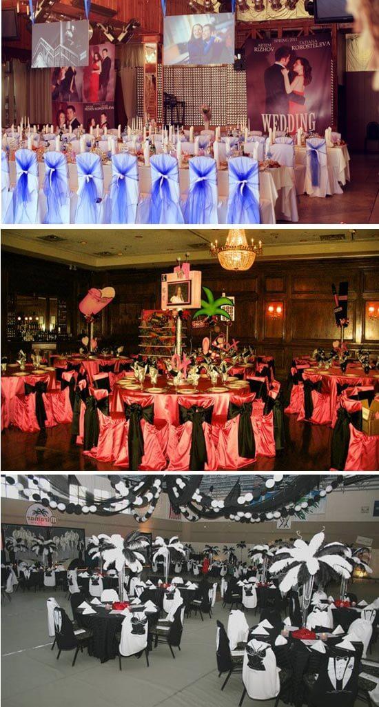 варианты оформления свадебного зала в стиле гансгстеров
