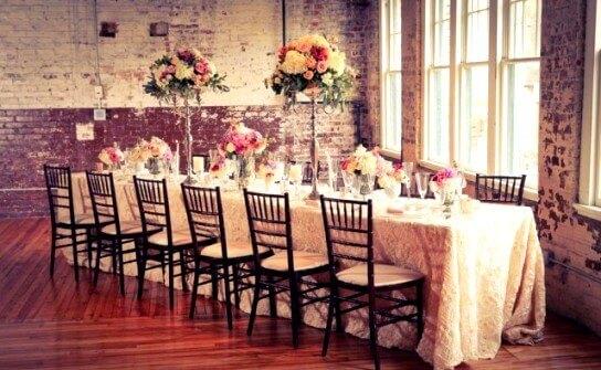 свадебный стол в винтажном стиле