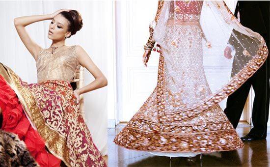 Свадебный наряд в индийском стиле