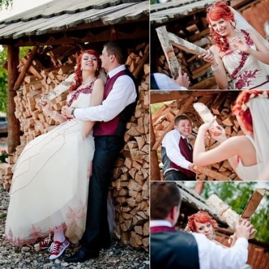 Деревянная свадьба не обходится без веселых конкурсов