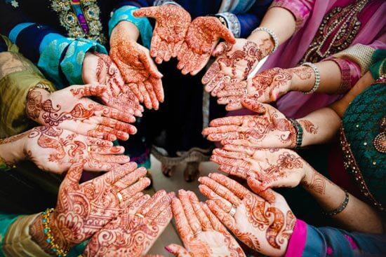 красивая роспись рук хной в индии