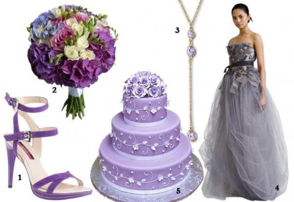 Подбор цветовых решений для фиолетового букета
