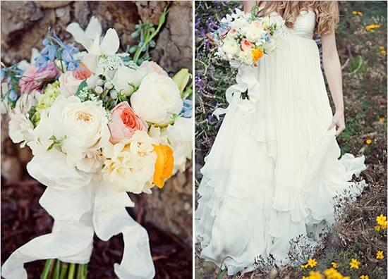 Невеста в винтажном платье