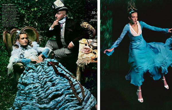 голубое свадебное платье с рюшами