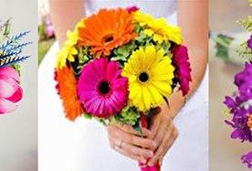 Как сделать свадебный букет из ярких летних цветов?