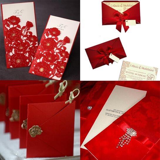 Приглашения на свадьбу в красном стиле