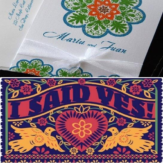 Приглашения на свадьбу. Мексиканский стиль