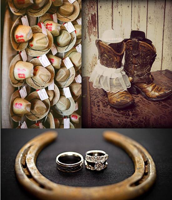 Стильное оформление ковбойской свадьбы