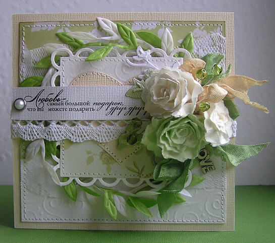 Приглашение на свадьбу в зеленом стиле