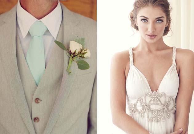 жених и невеста в стиле ампир