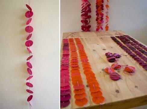 готовые свадебные гирлянды из бумаги