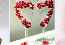 Свадебные фужеры для шампанского: как украсить бокалы для жениха и невесты?