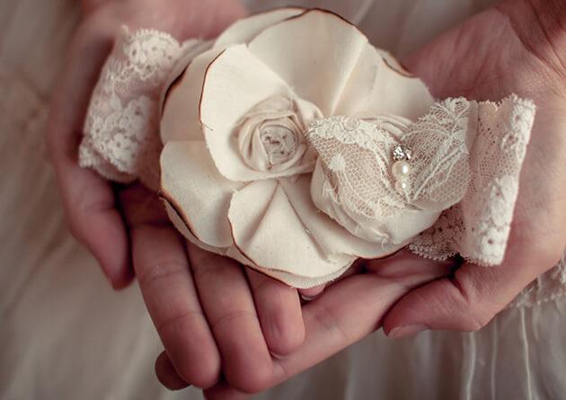 Винтажная кружевная подвязка невесты