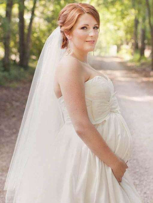 свадебное платье беременной