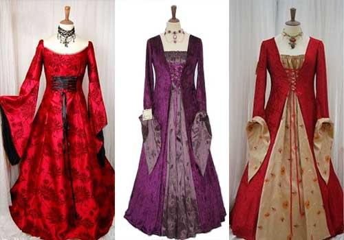 свадебные платья средневековья