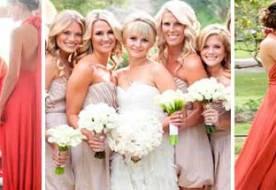 подруги невесты в красивых платьях