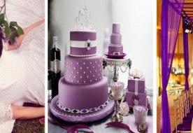 Свадьба в сиреневом стиле: роскошная классика декора