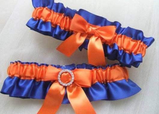 свадебные подвязки синего цвета