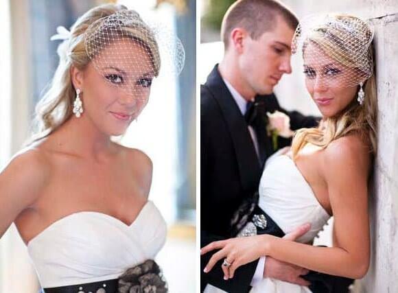 белая фата на невесте