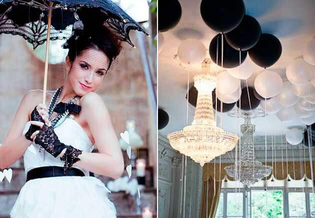 Стиль свадьбы в черных и белых тонах