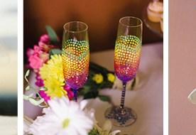 Мастер-класс: декор свадебных фужеров для шампанского своими руками