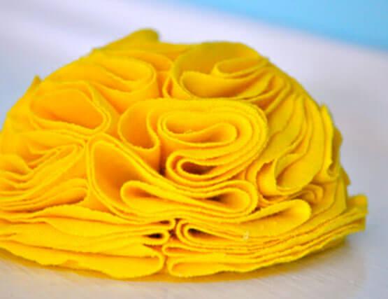 Мастер-класс: цветок из ткани на свадьбу своими руками
