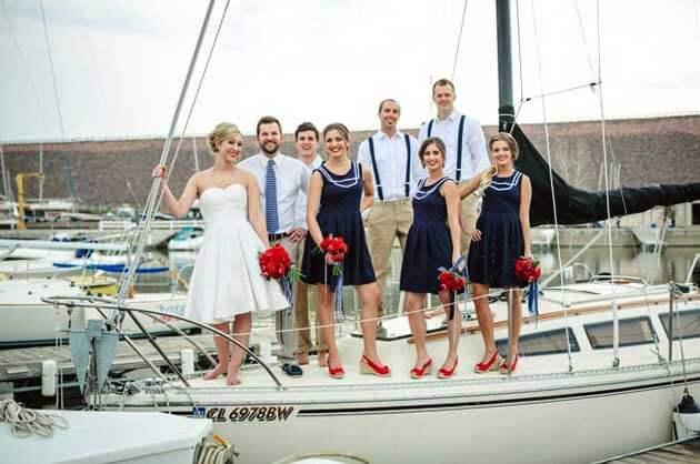свадьба в морском стиле на яхте