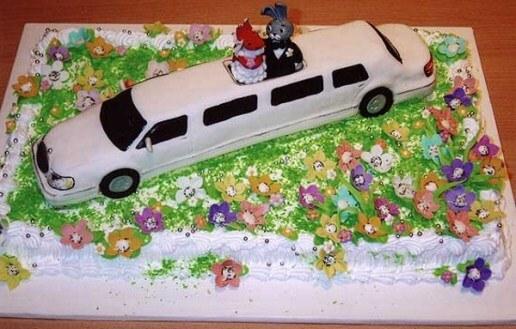 лимузин на свадебном торте