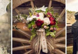 Осенняя ретро свадьба на старой ферме – только любовь и ничего лишнего