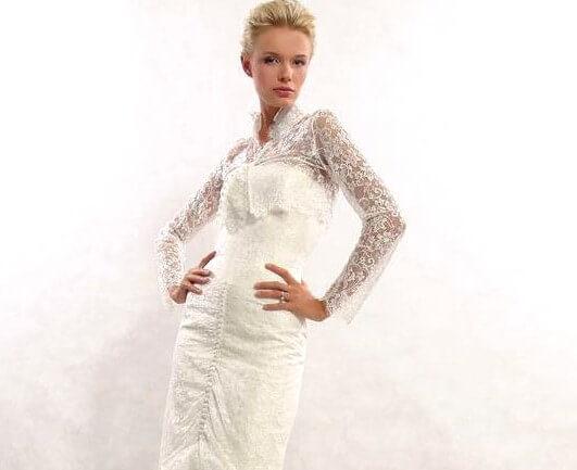 закрытый верх свадебного платья